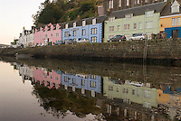 reflecions of buildings along Portree harbor, Isle of Skye