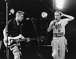 The Clash 1984  Paul Simenon & Joe Strummer...