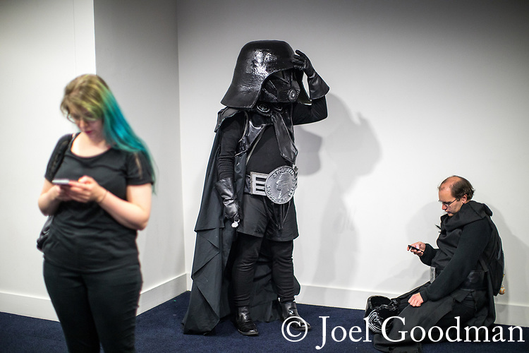 © Joel Goodman - 07973 332324. 30/07/2017 . Manchester , UK . Cosplayers, families and guests at Comic Con at the Manchester Central Convention Centre . Photo credit : Joel Goodman