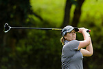 Paige Stubbs of Australia tees off during the first round of the EFG Hong Kong Ladies Open at the Hong Kong Golf Club Old Course on May 11, 2018 in Hong Kong. Photo by Marcio Rodrigo Machado / Power Sport Images