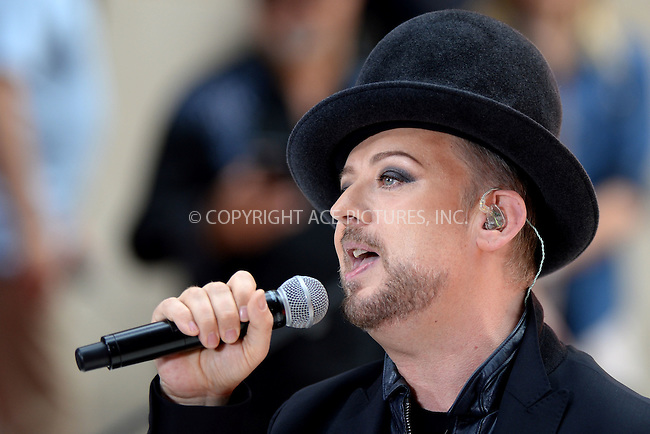 WWW.ACEPIXS.COM<br /> July 2, 2015 New York City<br /> <br /> Boy George and Culture Club performing in concert on NBC TODAY at Rockefeller Plaza on July 2, 2015 in New York City.<br /> <br /> Credit: Kristin Callahan/ACE Pictures<br /> Tel: (646) 769 0430<br /> e-mail: info@acepixs.com<br /> web: http://www.acepixs.com