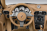 Straight dashboard view of a 2009 Porsche Carrera Coupe S.