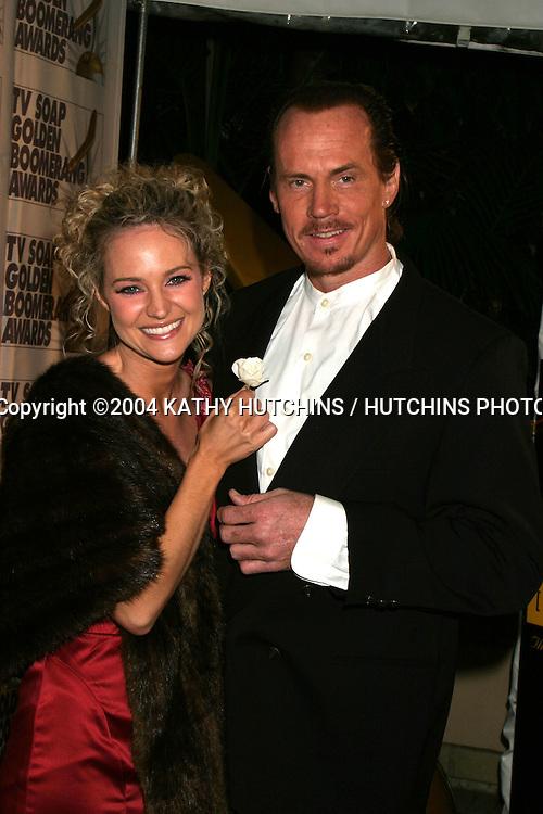 "©2004 KATHY HUTCHINS / HUTCHINS PHOTO.THE GOLDEN BOOMERANG AWARDS 2004.PRESENTED BY TV SOAP MAGAZINE OF AUSTRALIA.JANUARY 23,  2004..SHARON CASE.DAVID ""SHARK"" FRALICK"