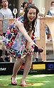 "May 21, 2016, Tokyo, Japan - Japanese Swiss actress Haruka Christine throws an iron ball for the promotion of petanque, French ball game in Tokyo on Saturday, May 21, 2016 as a  part of ""Aperitif 365"" event. Thousands of visitors are expecting to enjoy aperitifs and hors d'oeuvres at the three-day event for the promotion of French foods and drinks.  (Photo by Yoshio Tsunoda/AFLO) LWX -ytd"
