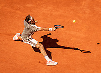 Paris, France, 2 june, 2019, Tennis, French Open, Roland Garros, Roger Federer (SUI)<br /> Photo: Henk Koster/tennisimages.com