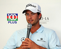 Adam Scott (AUS) in the Interview Room ahead of the Barclays Singapore Open, Sentosa Golf Club, Singapore. 6/11/12..(Photo Jenny Matthews/www.golffile.ie)