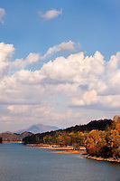 Watauga Lake in autumn (low pool) in Northeastern Tennessee.
