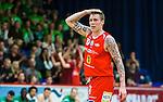 ****BETALBILD**** <br /> Uppsala 2015-04-24 Basket SM-Final 3 Uppsala Basket - S&ouml;dert&auml;lje Kings :  <br /> Uppsalas Axel Nordstr&ouml;m tar sig f&ouml;r huvudet under matchen mellan Uppsala Basket och S&ouml;dert&auml;lje Kings <br /> (Foto: Kenta J&ouml;nsson) Nyckelord:  Basket Basketligan SM SM-final Final Fyrishov Uppsala S&ouml;dert&auml;lje Kings SBBK depp besviken besvikelse sorg ledsen deppig nedst&auml;md uppgiven sad disappointment disappointed dejected