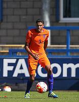 Daniljo Doekhl (Ajax) of Holland during the International match between England U19 and Netherlands U19 at New Bucks Head, Telford, England on 1 September 2016. Photo by Andy Rowland.