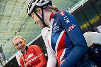 Picture by Allan McKenzie/SWpix.com - 06/01/2018 - Track Cycling - Revolution Champion Series 2017 - Round 3 - HSBC UK National Cycling Centre, Manchester, England - Abigail Dentus, HSBC UK, Kalas, branding.