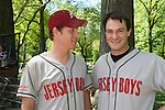 As The World Turns Eric Sheffer Stevens and Matt Bogart play on the Jersey Boys team in The Broadway Show League (softball) which has teams from the Broadway shows who play each other Thursdays throughout the summer in Central Park, New York City, New York. These photos were on April 29, 2010. (Photo by Sue Coflin/Max Photos)