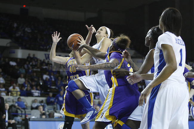 Sarah Barnette goes up for a shot in the game against Tennessee Tech at Memorial Coliseum on December 7, 2010. Photo by Ryan Buckler | Staff