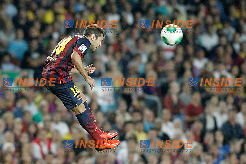 FC Barcelona's Jordi Alba during Supercup of Spain 2nd match.August 28,2013. (ALTERPHOTOS/Acero) <br /> Football Calcio 2013/2014<br /> La Liga Spagna Supercoppa di Spagna Barcellona - Atletico MAdrid <br /> Foto Alterphotos / Insidefoto <br /> ITALY ONLY