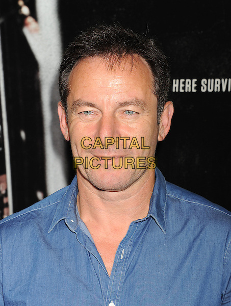 Jason Isaacs<br /> &quot;Captain Phillips&quot; Los Angeles Premiere held at the Academy of Motion Picture Arts and Sciences, Beverly Hills, California, USA.<br /> September 30th, 2013<br /> headshot portrait blue shirt jean denim <br /> CAP/ROT/TM<br /> &copy;Tony Michaels/Roth Stock/Capital Pictures
