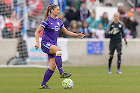 Bridgeview, IL, USA - Sunday, May 1, 2016: Orlando Pride defender Laura Alleway (5) during a regular season National Women's Soccer League match between the Chicago Red Stars and the Orlando Pride at Toyota Park. Chicago won 1-0.