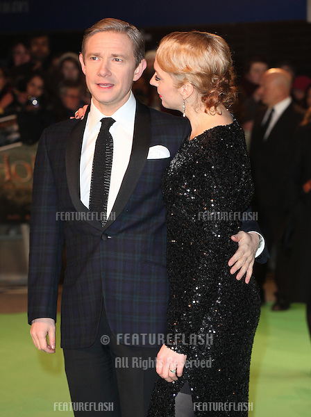 Martin Freeman and Amanda Abbington arriving for The hobbit Premiere, Odeon Leicester Square, London. 12/12/2012 Picture by: Alexandra Glen / Featureflash
