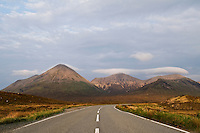 Highway A863 towards Red Cuillin HIlls, Isle of Skye, Scotland