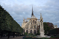 Notre Dame de Paris, 1163 - 1345, initiated by the bishop Maurice de Sully, Ile de la Cité, Paris, France. Picture by Manuel Cohen