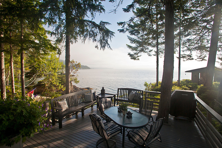 Brinnon, Washington, waterfront house on point, Hood Canal, Washington State, United States,