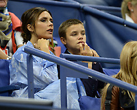 FLUSHING NY- AUGUST 29: ***NO NY DAILIES***   Victoria Beckham and Romeo Beckham seen watching Madison Keys Vs Elise Mertens at The 2017 US Open Tennis at the USTA Billie Jean King National Tennis Center on August 29, 2017 in Flushing Queens. Credit: mpi04/MediaPunch