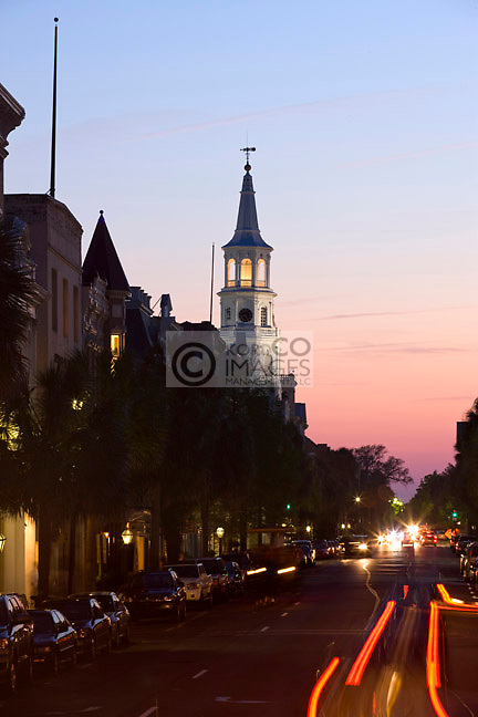 SAINT MICHAEL CHURCH BROAD STREET DOWNTOWN CHARLESTON SOUTH CAROLINA USA