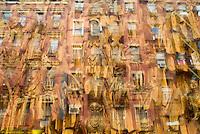 Chinese Buddhist Temple and Window Reflections, Mott Street, Chinatown, New York City, New York State, USa