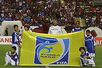 RIO DE JANEIRO, RJ, 08 DE MARCO 2012 - TACA LIBERTADORES DA AMERICA - FLAMENGO X EMELEC - Mensagem de Fair Play, antes da partida entre Flamengo e Emelec, pela Taca Libertadores da America, no estadio do Engenhao, na cidade do Rio de Janeiro, nesta quinta feira, 08. FOTO BRUNO TURANO  BRAZIL PHOTO PRESS