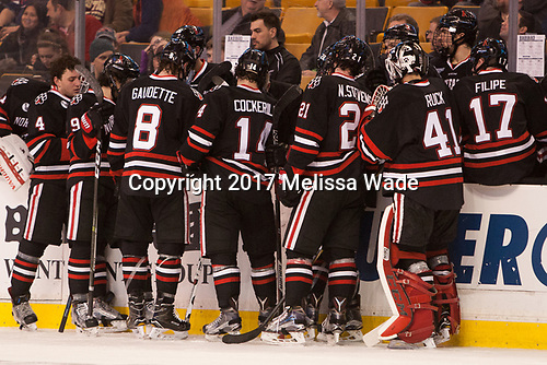 - The Harvard University Crimson defeated the Northeastern University Huskies 4-3 in the opening game of the 2017 Beanpot on Monday, February 6, 2017, at TD Garden in Boston, Massachusetts.
