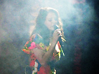Lana Del Rey makes the crowd go wild with her charm and serenading vocals at the Outdoor Theatre on the final day of the festival.