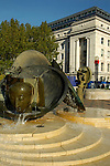Centenary Square with Baskerville House in the distance Birmingham England