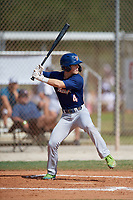 Vince Smith (4) during the WWBA World Championship at the Roger Dean Complex on October 13, 2019 in Jupiter, Florida.  Vince Smith attends Calvary Christian High School in Clearwater, FL and is committed to Florida State.  (Mike Janes/Four Seam Images)