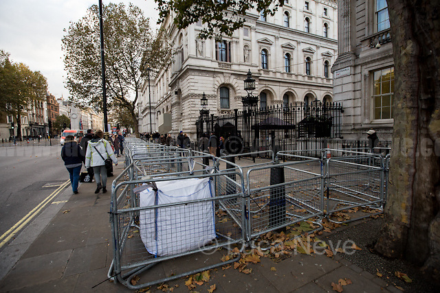 Prologue: Downing Street.<br /> <br /> London, 05/11/2016. Thousands of protesters gathered this evening in central London to take part in a demonstration called the &quot;Million Mask March&quot;, which is organised annually by Anonymous, and held globally in more than 400 cities planned to coincide with Guy Fawkes Night (The Gunpowder Plot of 1605). The aim of the demo was to highlight social injustice and Government corruption across the globe, but also to protect the environment, freedom of the internet, oppose mass surveillance and austerity. The rally started in Trafalgar Square. Consequently, protesters marched on Whitehall, gathering in Parliament Square. Then, the demonstration carried on towards Buckingham Palace and The Mall, to end in the Trafalgar Square area, where a heavy police presence in full riot gears contained the last activists in few &quot;kettle&quot; arresting 47 people. <br /> <br /> For more information please click here: https://www.facebook.com/events/485894658146587/