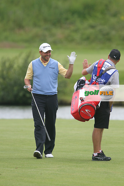 David Howell (ENG) on the 18th on Day 3 of the Alstom Open de France at Golf National,  Saint-Quentin-En-Yvelines, Paris, France, 7/7/12...(Photo Jenny Matthews/www.golffile.ie)