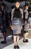 Model in Look 7: Haunted Wallpaper Top, Patchwork Paisley Dress