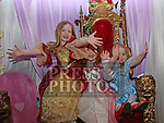 Saorlaith, Grace and Clodagh at the Princess Ball in the Barbican.<br /> <br /> Photo - Jenny Matthews