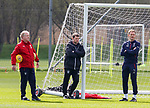 20.04.2018 Rangers training: Rangers management team Jimmy Nicholl, Graeme Murty and Jonatan johansson