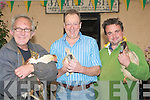 SALE: Ducks,Rabbits and Chickens on sale at the Camp Fair on Friday. l-r: Pat Moore and Thomas Ashe(Camp) and Tom Doyle (Listowel)..