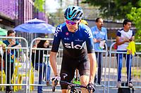 MEDELLIN - COLOMBIA, 15-02-2019: Chris Froome (GBR), Sky, durante la cuarta etapa del Tour Colombia 2.1 2019 con un recorrido de 144 Km, que se corrió con salida y llegada en el estadio Atanasio Girardot de la ciudad de Medellín. / Chris Froome (GBR), Sky, during the four stage of 144 km of Tour Colombia 2.1 2019 that ran with start and arrival in Atanasio Girardot stadium in Medellin city.  Photo: VizzorImage / Anderson Bonilla / Cont