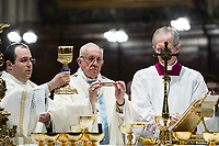 "Pope Francis celebrates a mass for the feast of the translation of the icon of Mary ""Salus Populi Romani"" (Salvation of the Roman People) in St. Mary Major's Basilica, Rome, January 28, 2017. UPDATE IMAGES PRESS/Riccardo De Luca<br /> <br /> STRICTLY ONLY FOR EDITORIAL USE Pope Francis celebrates a mass for the feast of the translation of the icon of Mary ""Salus Populi Romani"" (Salvation of the Roman People) in St. Mary Major's Basilica, Rome, January 28, 2017.<br />