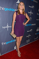 Clare Grant<br /> The first annual Geekie Awards at The Avalon Hollywood in Hollywood, CA., USA.  <br /> August 18th, 2013<br /> full length purple dress hand on hip <br /> CAP/ADM/BT<br /> ©Birdie Thompson/AdMedia/Capital Pictures