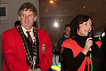 Mayor Michael O'Dowd and Patricia Rooney, President of Drogheda Chamber of Commerce at the switching on of the Christmas lights on West Street, last Friday.