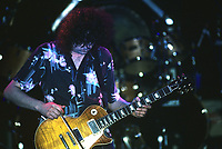 Jimmy Page performs with The Firm at The Rosemoint Horizion in Rosemont , Illinois.<br /> May 1986<br /> CAP/MPI/GA<br /> &copy;GA/MPI/Capital Pictures