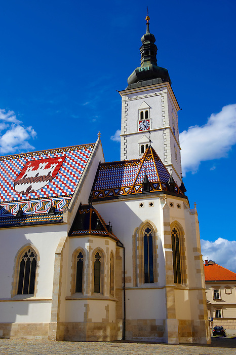 Late Gothic church of St. Mark's Church (Crkva sv. Marka) , Zagreb, Croatia