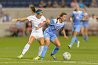 Chicago, IL - Wednesday Sept. 07, 2016: Shea Groom, Taylor Comeau during a regular season National Women's Soccer League (NWSL) match between the Chicago Red Stars and FC Kansas City at Toyota Park.