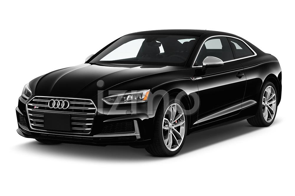 2018 Audi S5 Premium Plus 2 Door Coupe angular front stock photos of front three quarter view