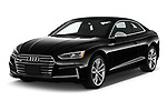 2018 Audi S5 Premium Plus 2 Door Coupe angular front stock photos of front three quarter view