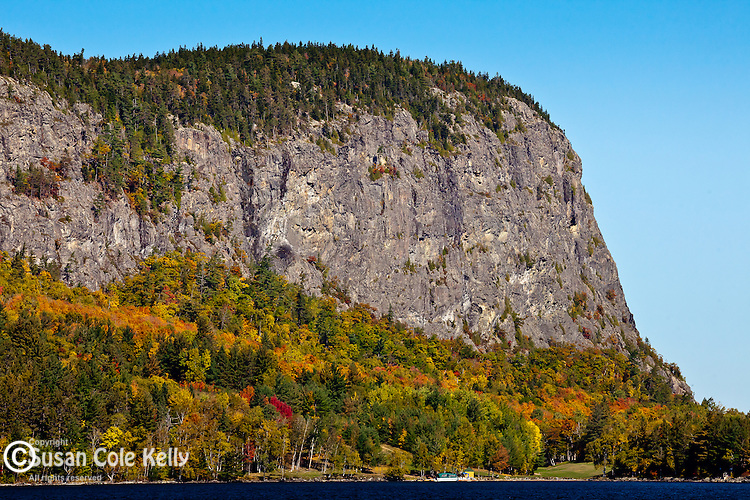 View of Mount Kineo over Moosehead Lake in Rockwood, Somerset County, ME, USA