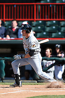 Akron RubberDucks outfielder Jordan Smith (39) at bat during a game against the Erie SeaWolves on May 18, 2014 at Jerry Uht Park in Erie, Pennsylvania.  Akron defeated Erie 2-1.  (Mike Janes/Four Seam Images)