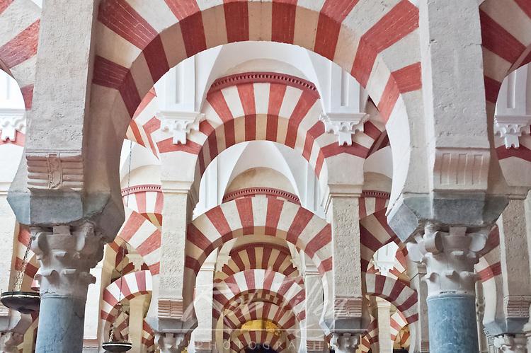 Europe, Spain, Andalucia, Cordoba, La Mezauita-Catedral (Catedral Mosque of Cordoba) Interior