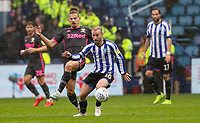 Leeds United's Kalvin Phillips (left) competing with Sheffield Wednesday's Barry Bannan <br /> <br /> Photographer Andrew Kearns/CameraSport<br /> <br /> The EFL Sky Bet Championship - Sheffield Wednesday v Leeds United - Saturday 26th October 2019 - Hillsborough - Sheffield<br /> <br /> World Copyright © 2019 CameraSport. All rights reserved. 43 Linden Ave. Countesthorpe. Leicester. England. LE8 5PG - Tel: +44 (0) 116 277 4147 - admin@camerasport.com - www.camerasport.com